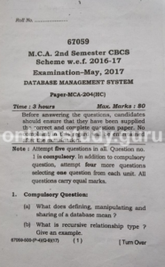 Database Management System May-2017