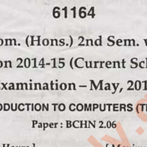 bcom hons mdu 6th semester 2018 year question paper download