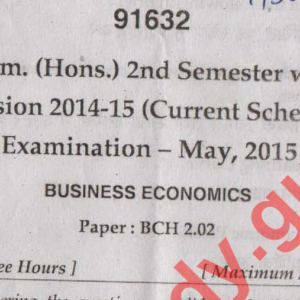 BCOM HONS MAY 2018 DOWNLOAD PREVIOUS YEAR QUESTION PAPERS